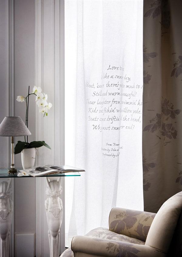 Lyrics e Poems tende in lino d\'ispirazione poetica – M • G • C