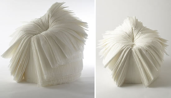ghost stories by nendo cabbage chair white closed