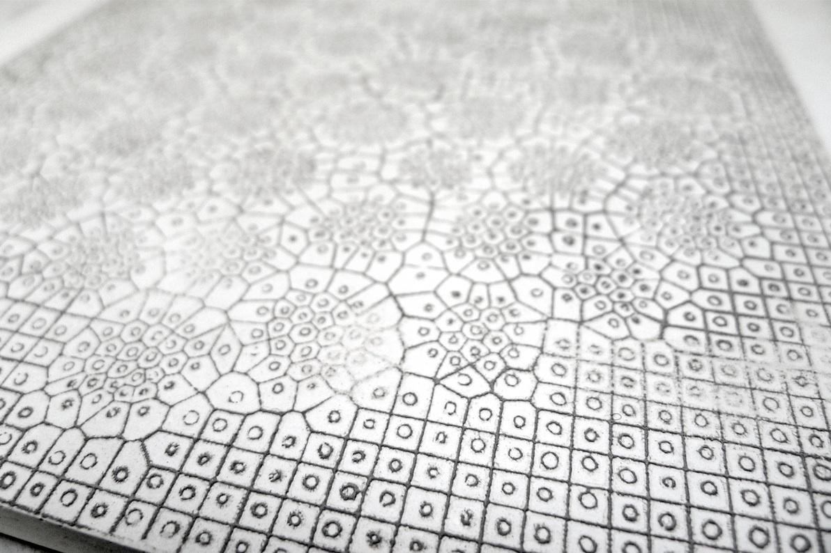 Printed Cement lumieres studio Alessia Giardino