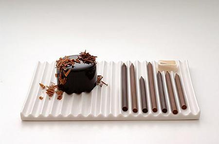 Le matite di cioccolata di Nendo
