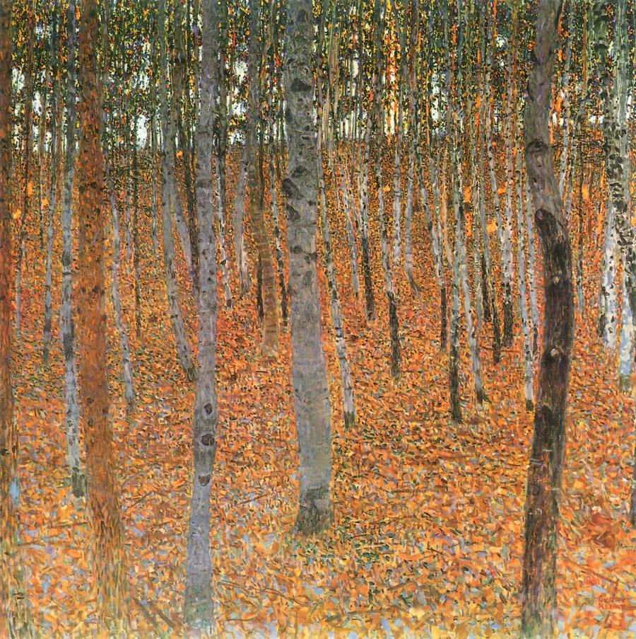 Gustav Klimt Beech forest