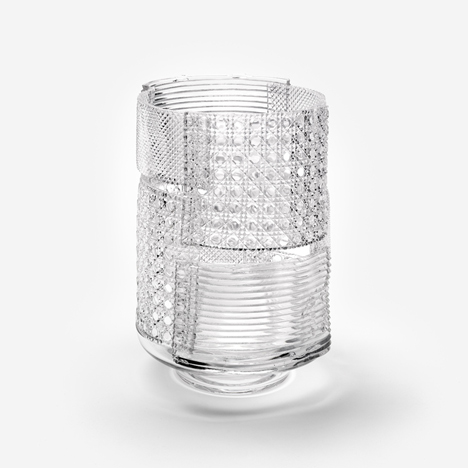 PATCHWORK GLASS VASE - Nendo