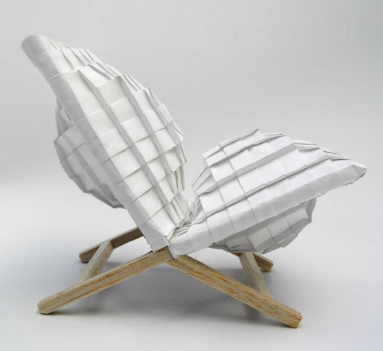 Raw-Edges 'pleated pleat' chair