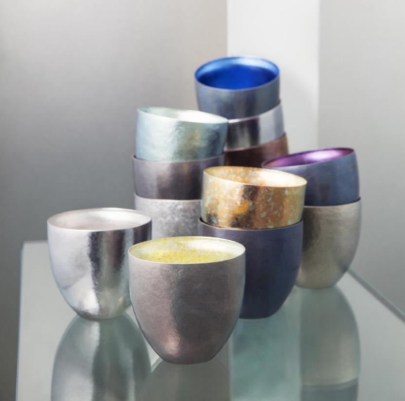 SUS Gallery creazioni per la tavola in titanio cristallizzato