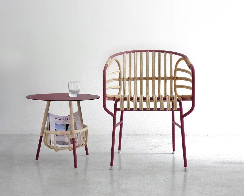 Lucidi - Pevere: sedia Raphia per Casamania