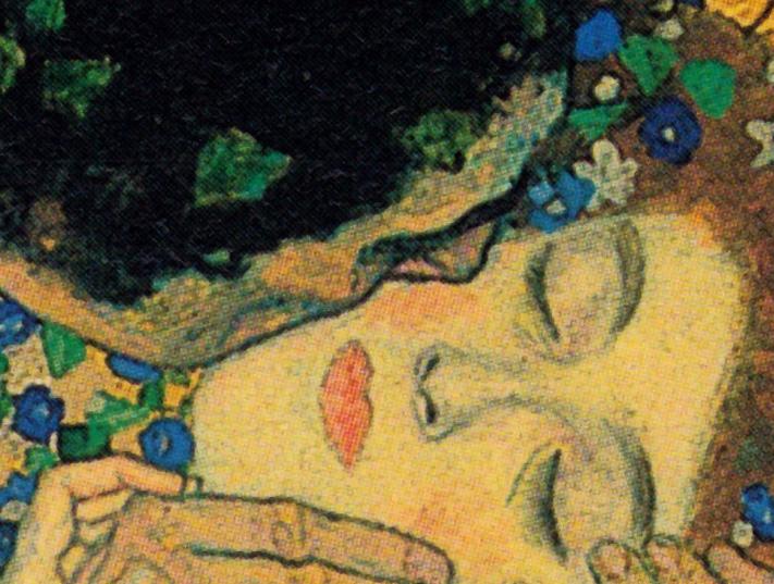 Gustav Klimt - The Kiss (Detail), 1907-08