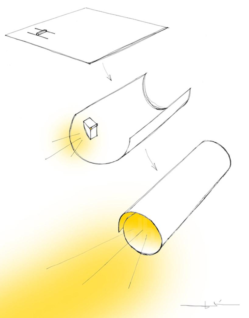 Paper LED torch light: Kazuhiro Yamanaka