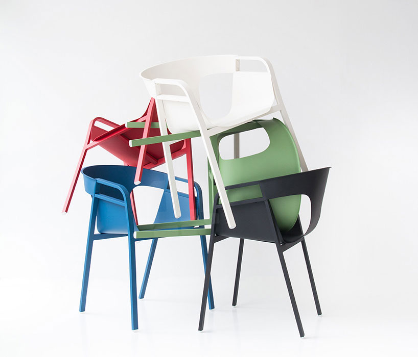 'Kirk' sedia in alluminio -  Patrick Frey