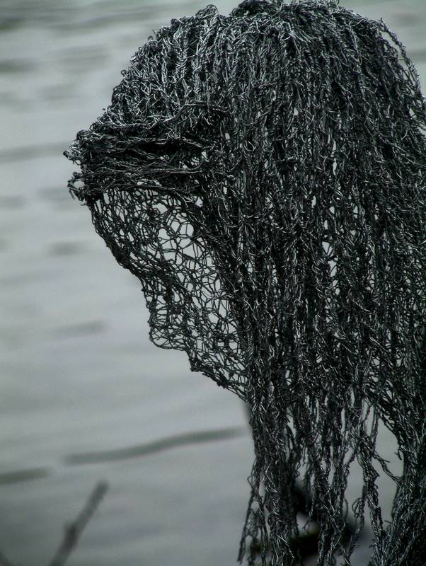 Wire Sculptures by Derek Kinzett Spirit Of The Lake