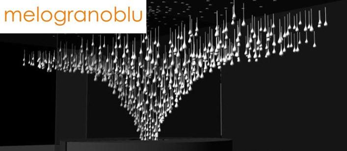 Melogranoblu ha presentato un'installazione luminosa: Maelstöm,