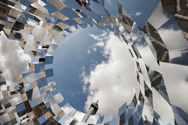 The Ring Mirror Installation by Arnaud Lapierre