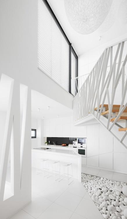 White Apartment - Interior Design: René Baranyai & Natália