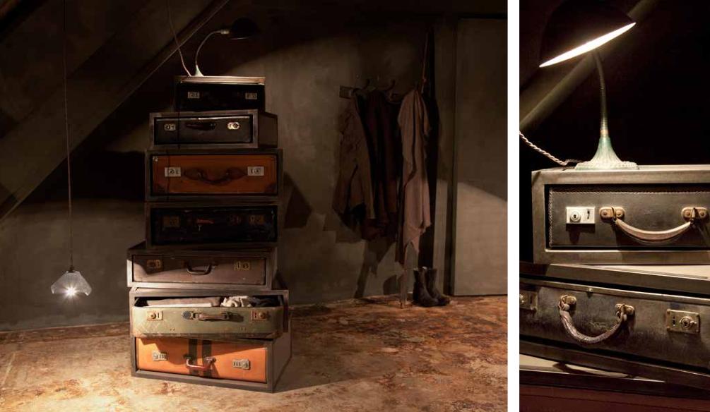 Suitcase Stack & DetailThe Chalk Room | ©JAMESPLUMB 2012