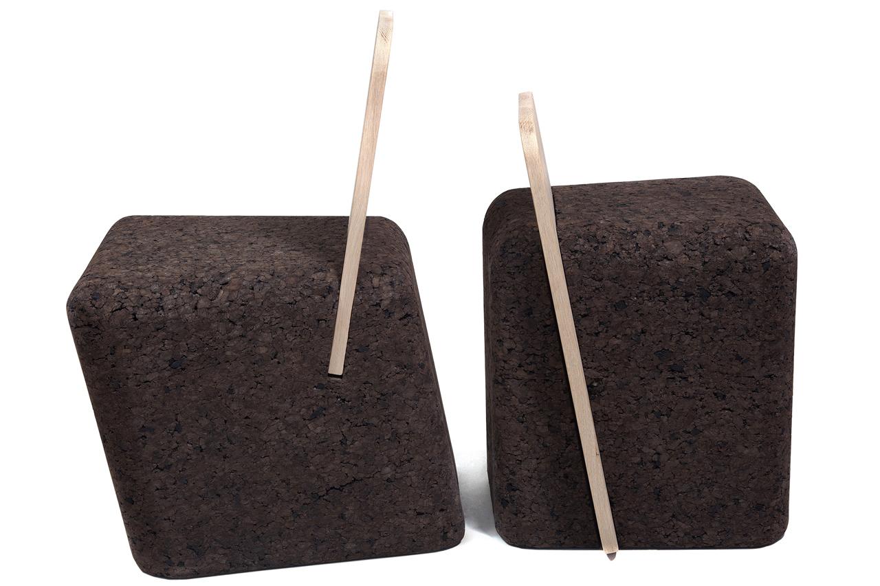 Toni Grilo Cut sedia Blackcork