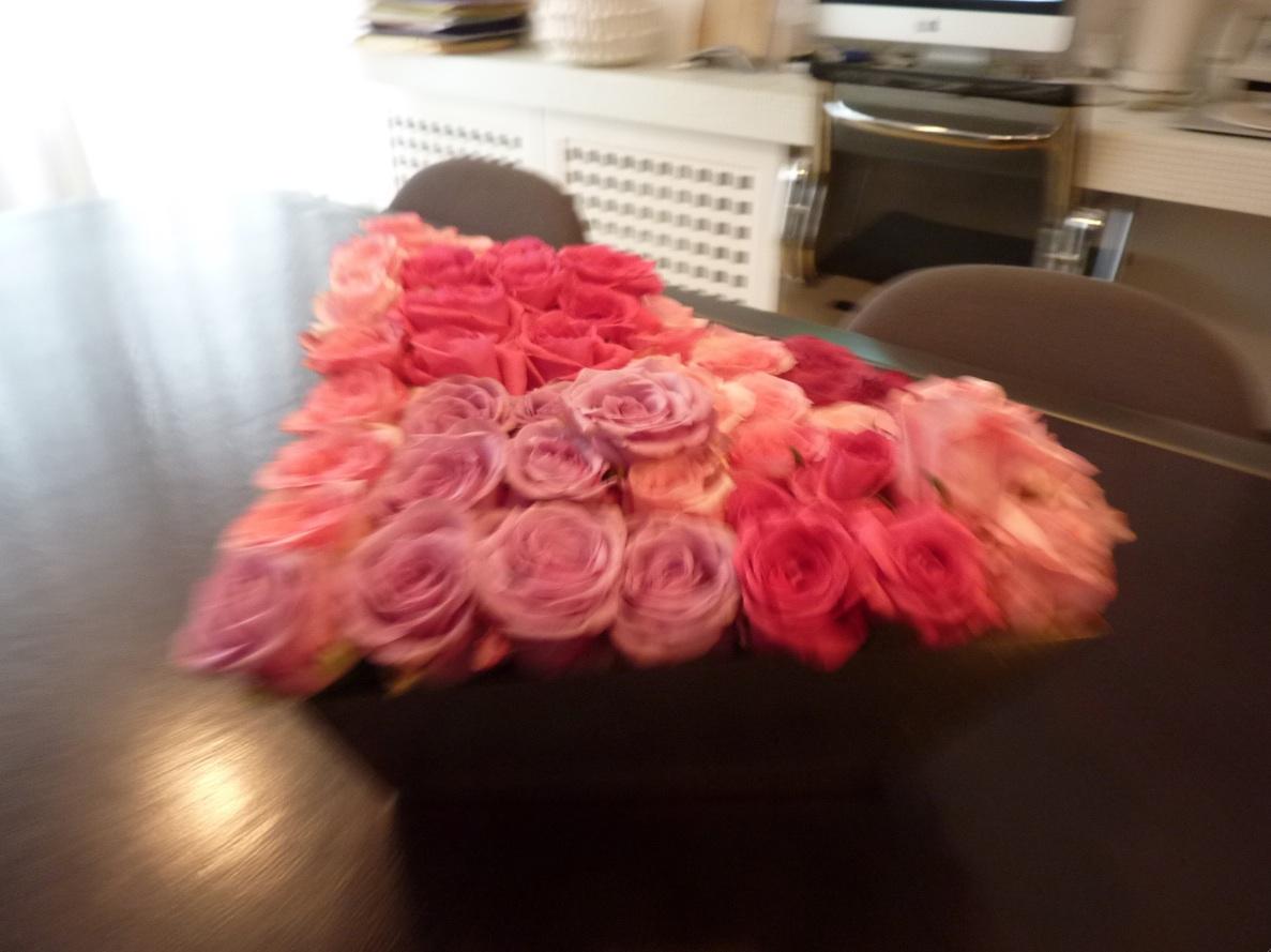centro tavola 50 rose rosse1