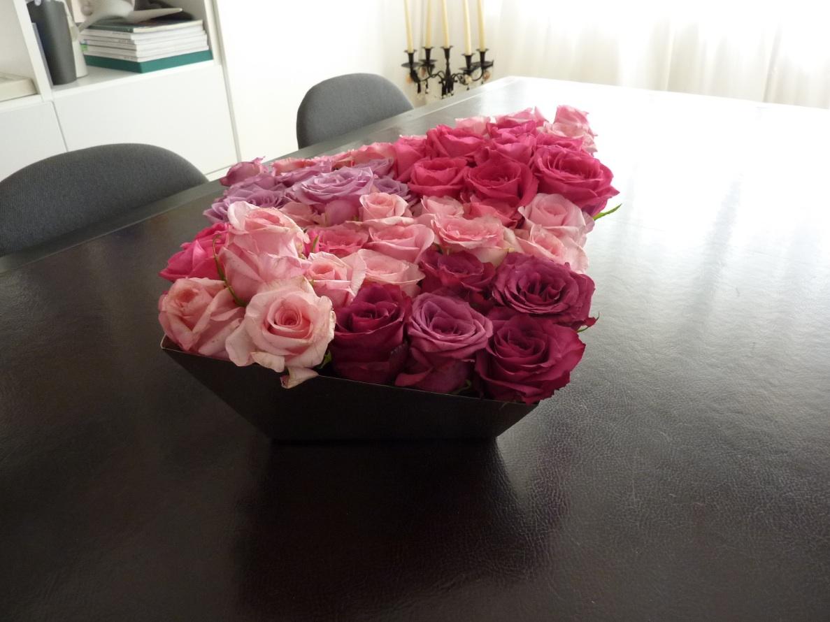 centro tavola 50 rose rosse2