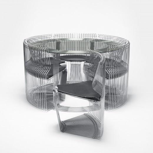 Pantonova, Fritz Hansen, Verner Panton dining-set-Wright