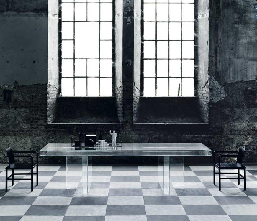Verglas versione trasparente Piero Lissoni