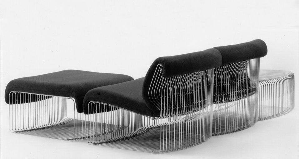Pantonova, Fritz Hansen, Verner Panton chaises longue, model 125T