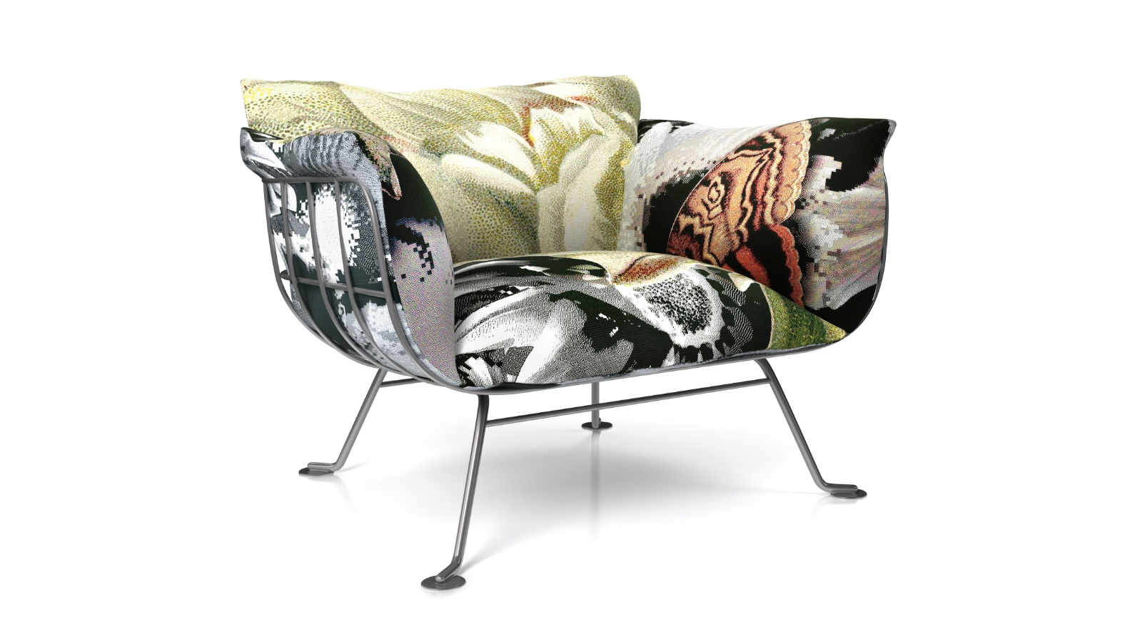 nest chair flower bits by marcel wanders moooi
