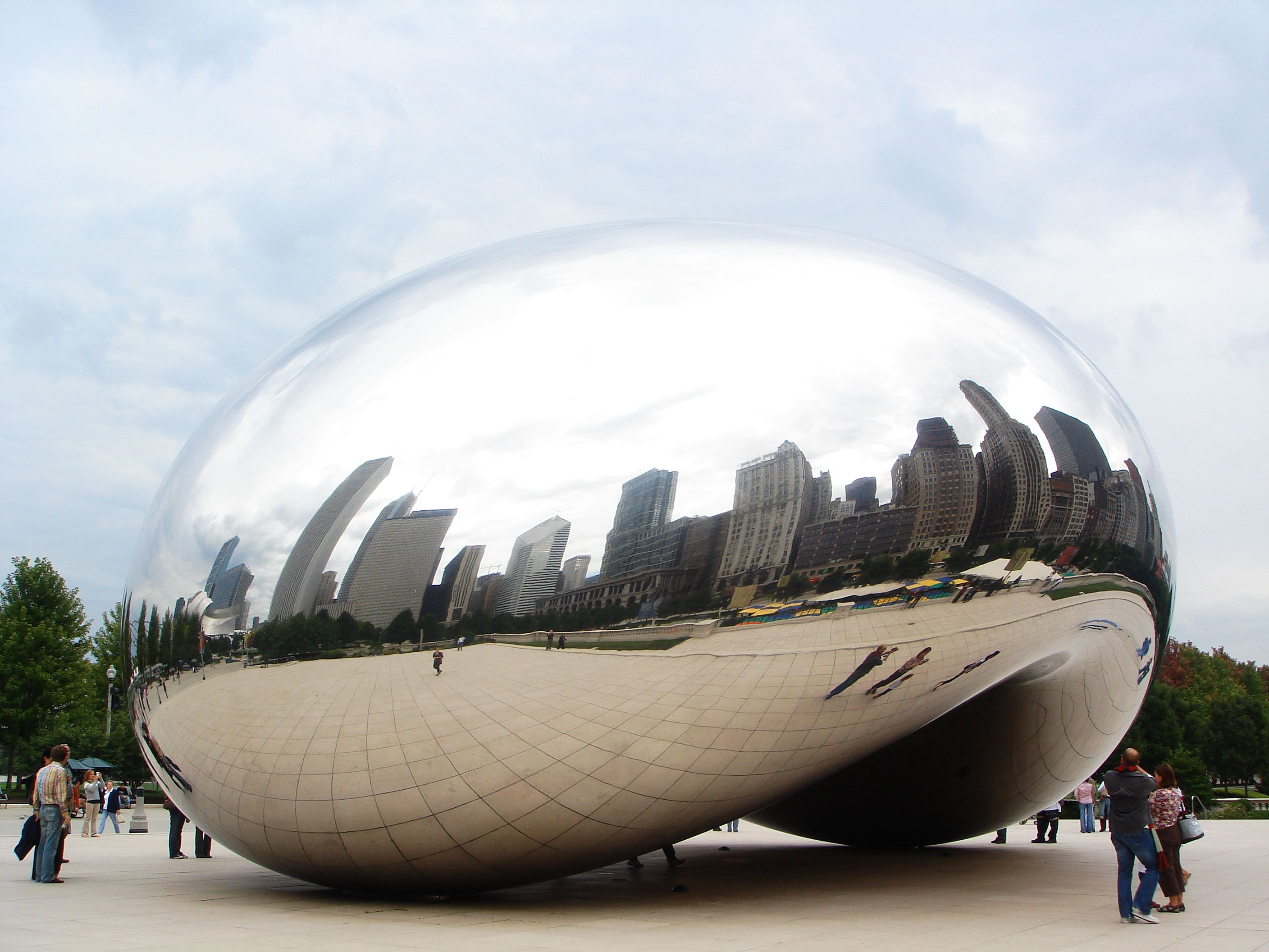 """Anish Kapoor Cloud Gate – """"The Bean"""", Chicago, 2004"""