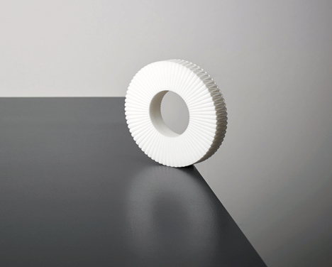 Pleated Collar napkin ring by Studio Droog, photo by Ingmar Swalue