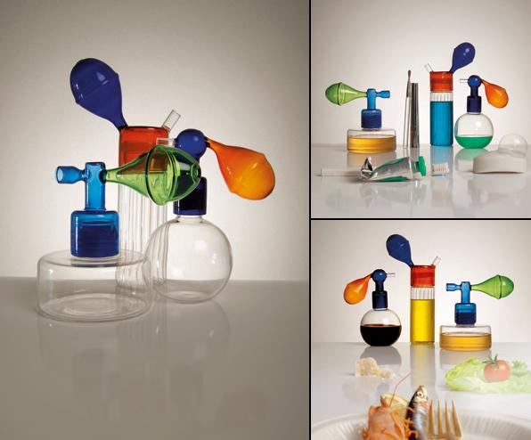Atomizers design Cristina Celestino contenitori in vetro soffiato