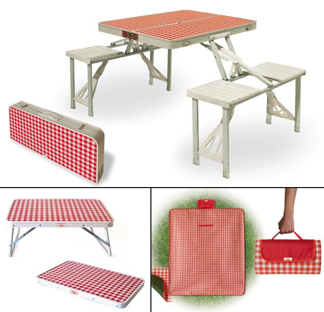 Festival design Selab Valigetta set picnic coperta vassoio