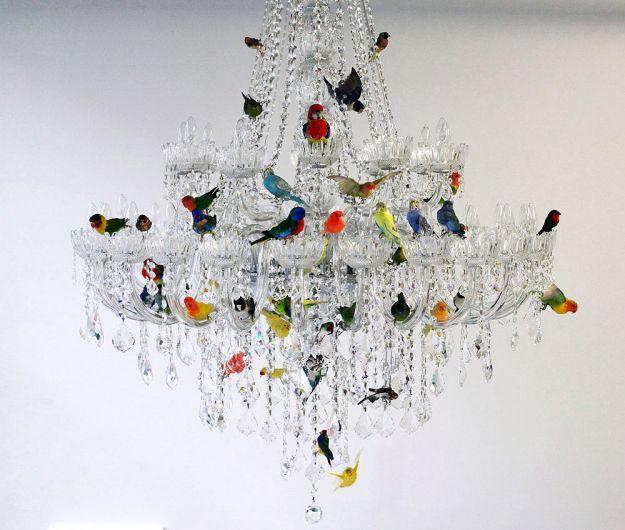 l'XL:  lampadario moderno di cristallo