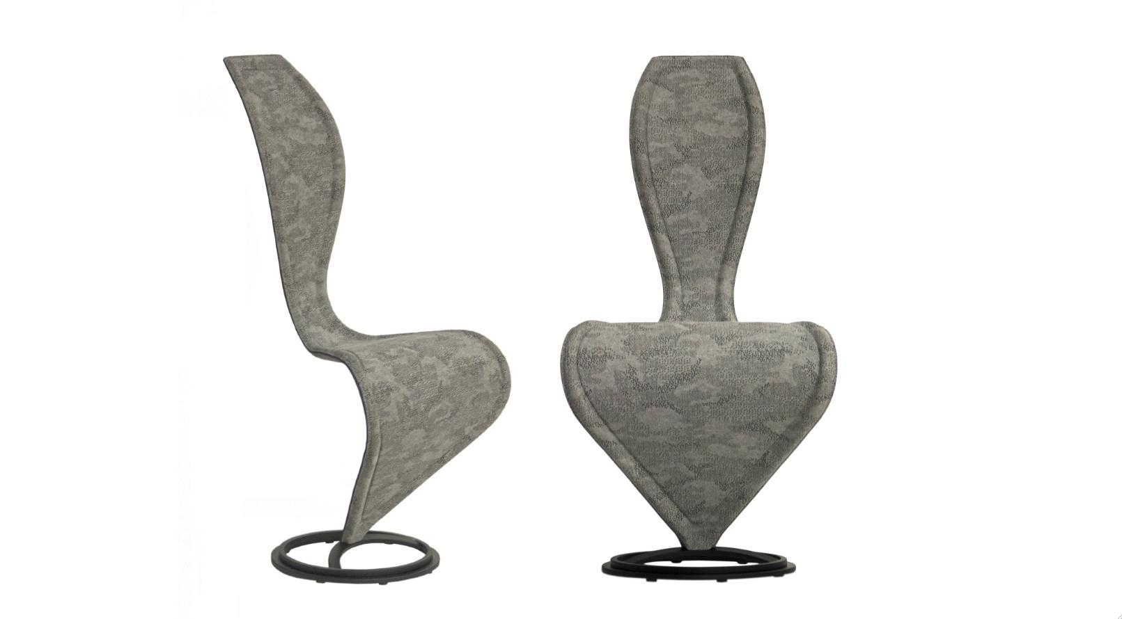 Cappellini-SChair-SChair Homage to Berlin Alcantara camouflage limited edition