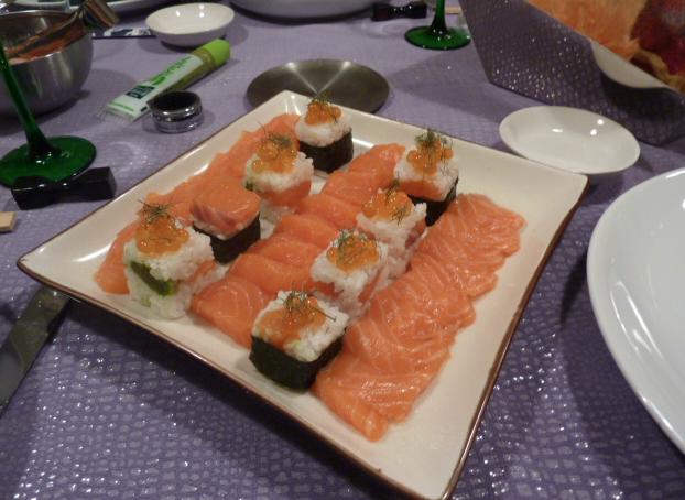 ricetta arredoeconvivio sushi e sashimi con rice cube