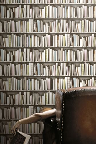 bookshelf wallpaper by young battaglia