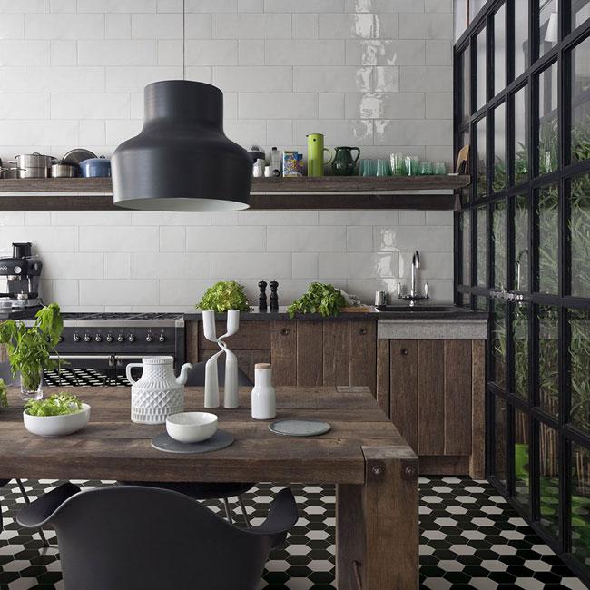 foto dal web kitchen hexagon tiles