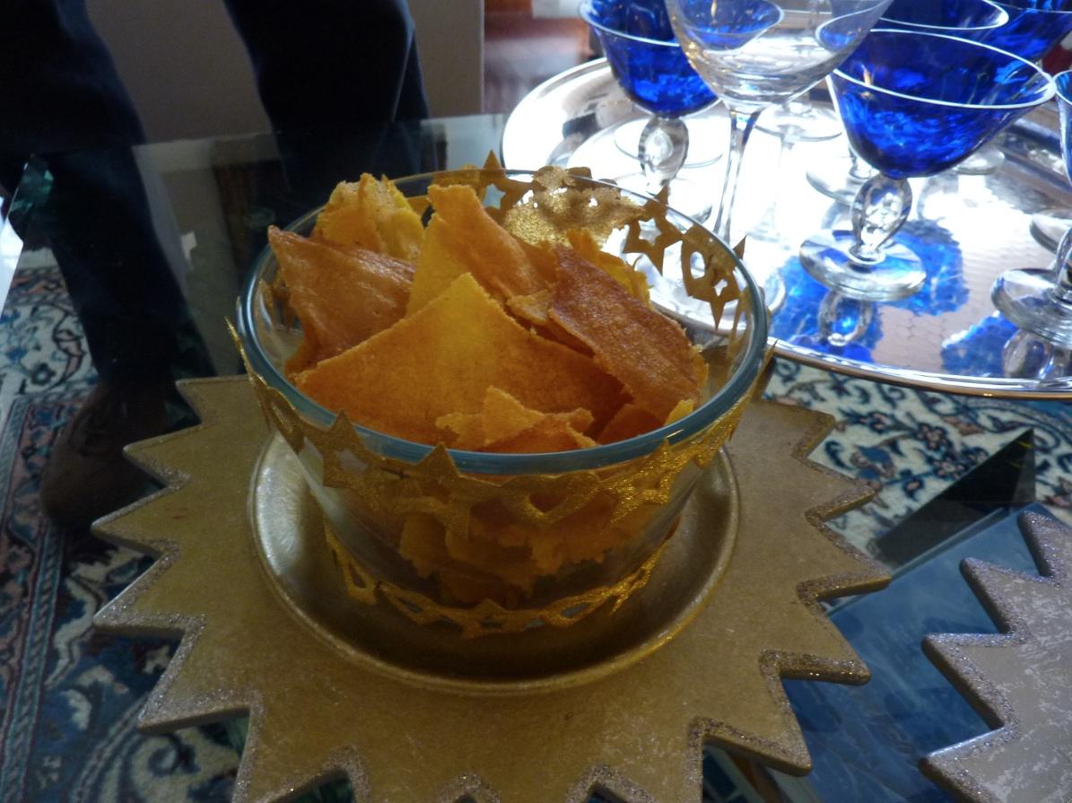 Chips di Polenta croccante