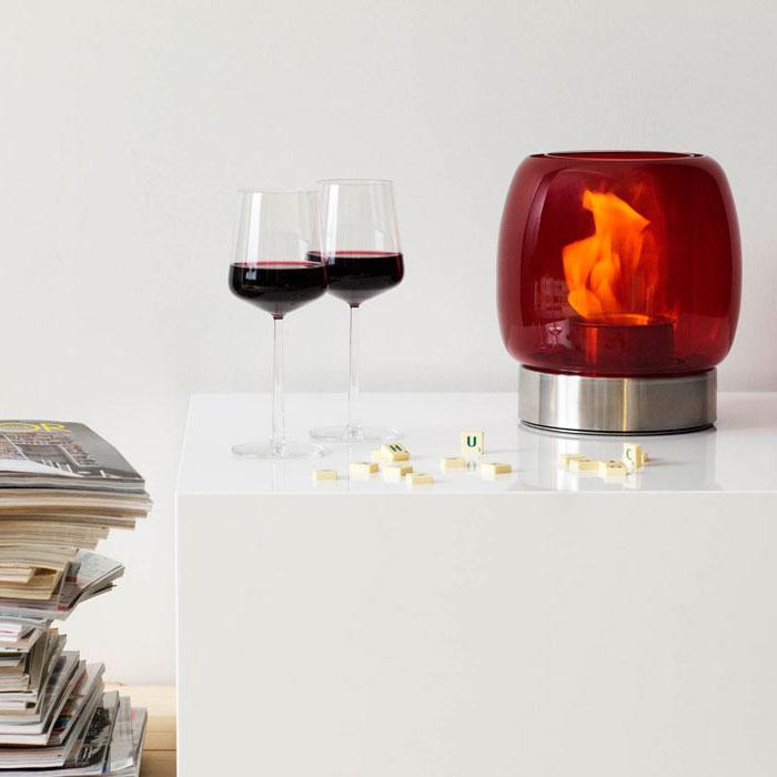 Iittala - Kaasa Fireplace Red Glass