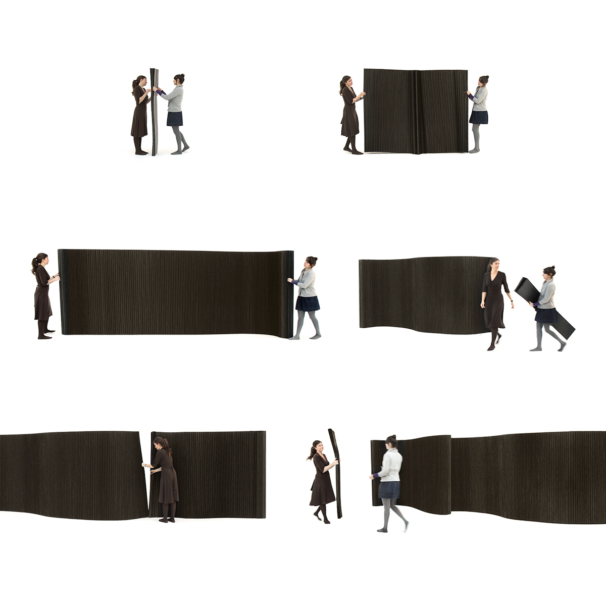 molo design softwall paper wall divider · opening softwall