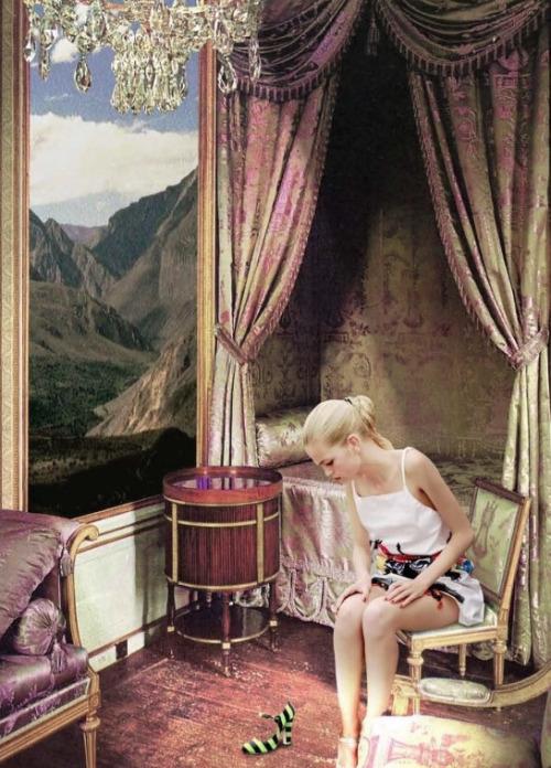 Daphne Groeneveld by Philip Meech per Prada