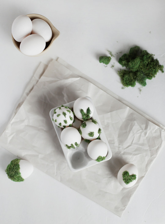 DIY Moss Design Eggs » The Merrythought