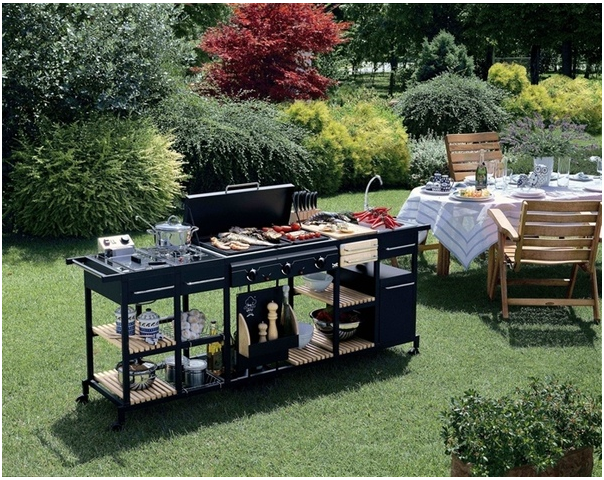 Barbecues professionale a gas BST Magnum bistecchiera centrale