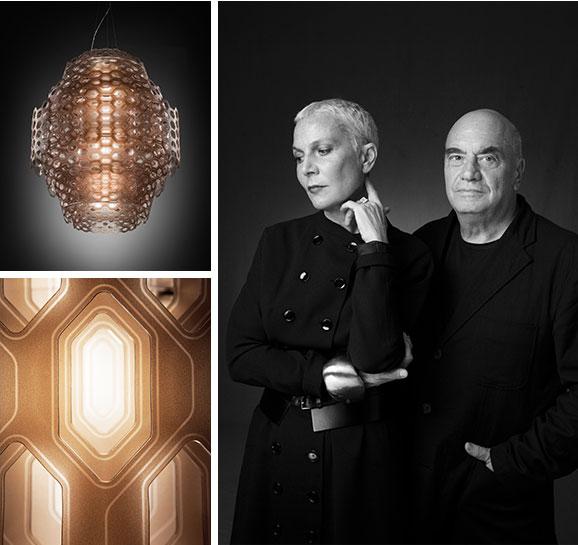 Lampade CHARLOTTE & CHANTAL per SLAMP Doriana e Massimiliano Fuksas
