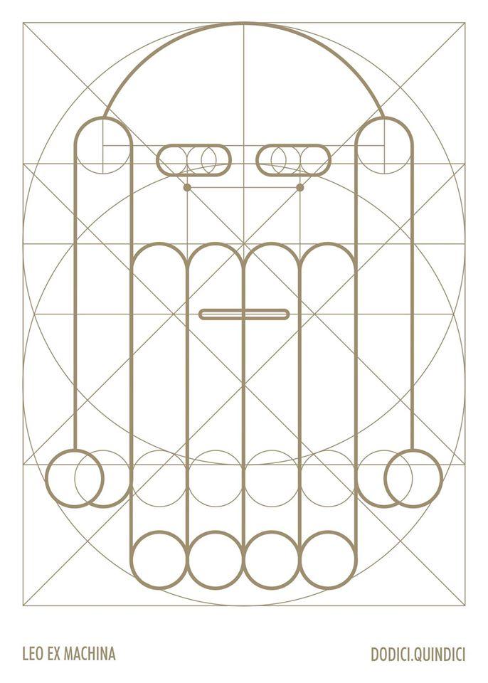 """copertina di BAU Dodici """"Leo Ex Machina"""" Grafica Gumdesign, Laura Fiaschi e Gabriele Pardi"""