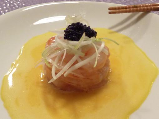 Gamberi con salsa al tuorlo d'uovo di Cannavacciuolo by arredoeconvivio