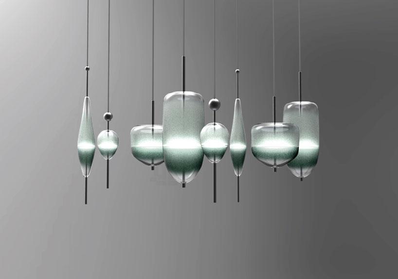 'FLOW(T) GLASS CHANDELIER' di NAO TAMURA