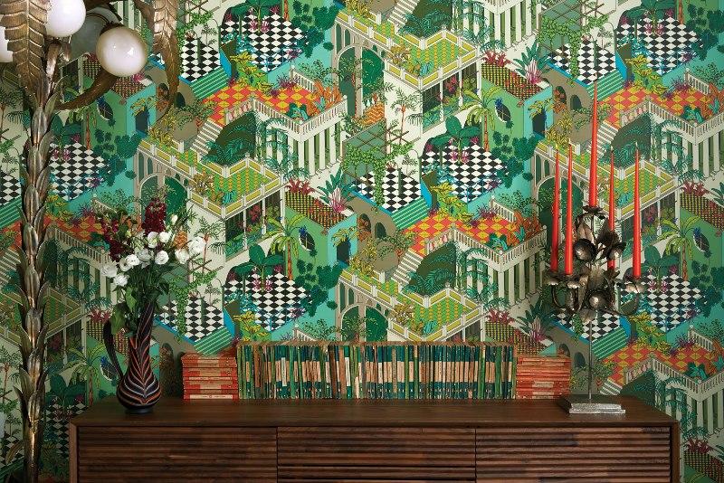 Wallpaper Miami di Cole & Son fa parte della collezione Geometric I