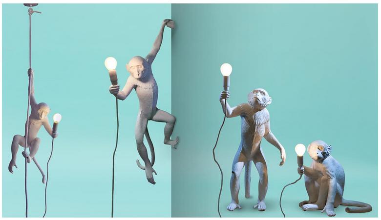 Monkey Lamp – Appesa MarcantonioRaimondi Malerba, per Seletti