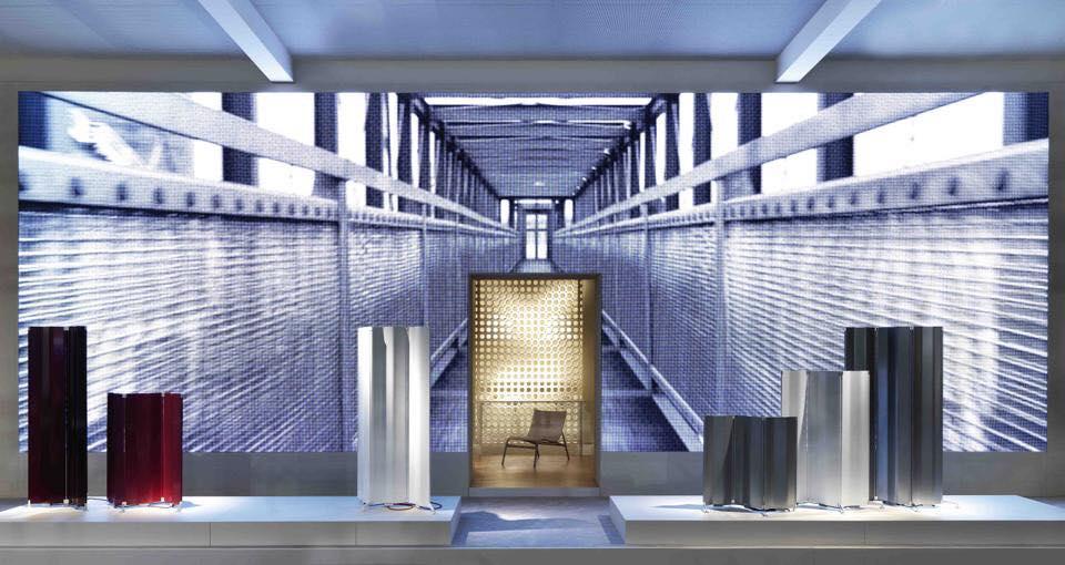 """ORIGAMI"""" Alberto Meda per Tubes foto di Tubes Salone internazionale del mobile 2016"""