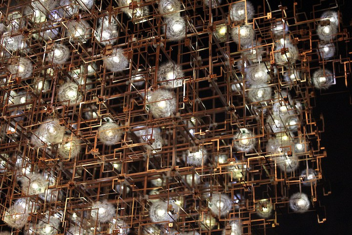 "Studio Drift ""Fragile Future III chandelier"""