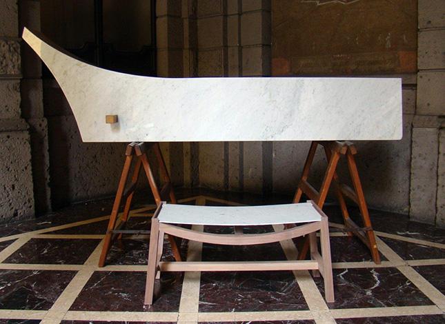 panca in marmo Pusterla Lorenzo Damiani