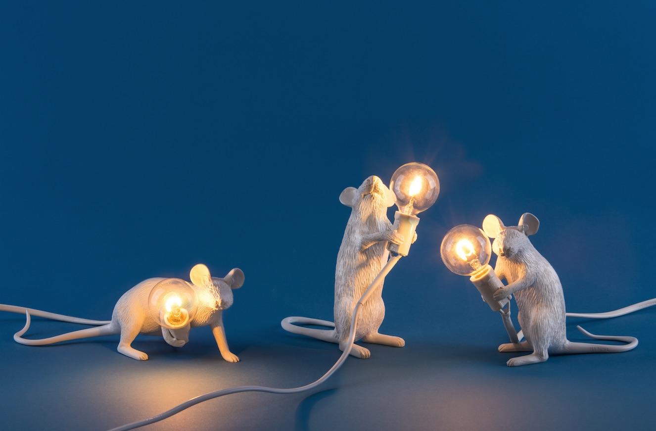 Mouses Lamp Seletti Design Marcantonio Raimondi Malerba