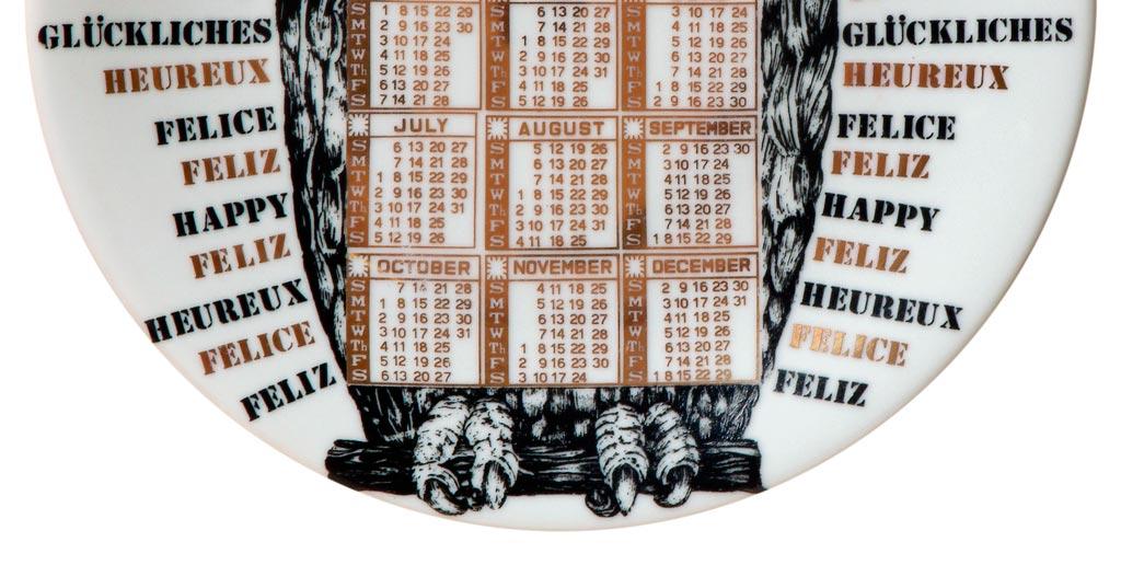 Fornasetti – piatti Calendario